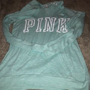 VS Pink Light Green Hoodie